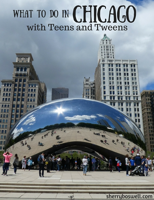 Chicago with kids Teens tweens | Cloud Gate at Millennium Park is iconic landmark