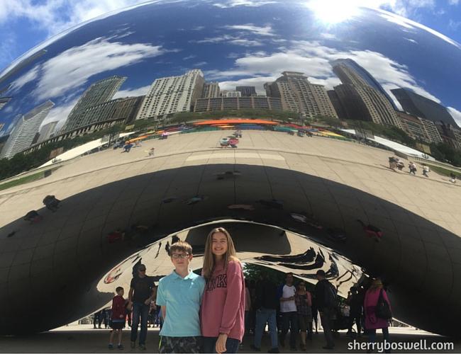 Chicago Cloud Gate (aka the Bean) at Millennial Park