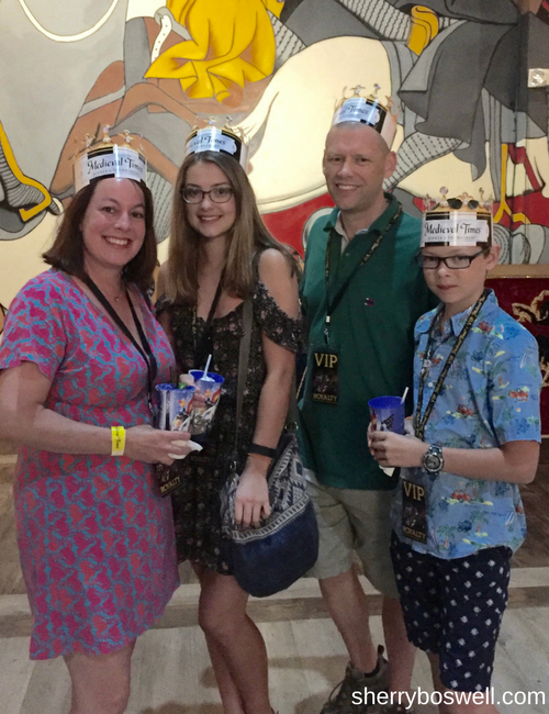 Myrtle Beach Family Fun | Fun in and out of the waves included becoming lords and ladies at the Medieval Times dinner and show.