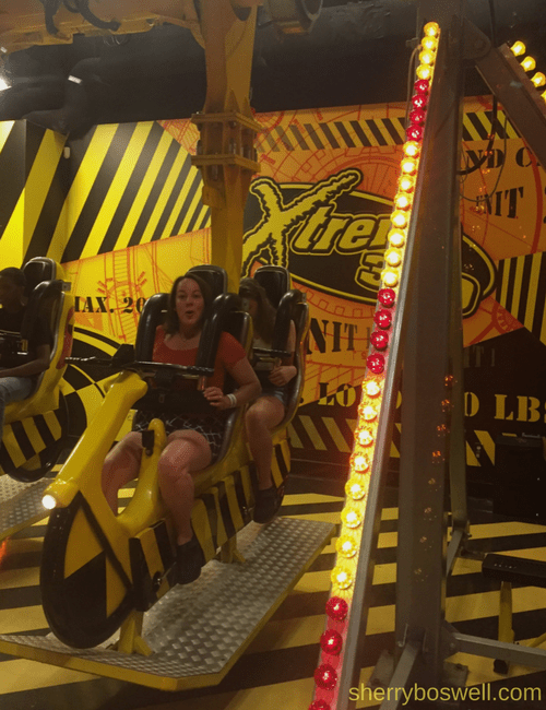Myrtle Beach Family Fun | Fun in and out of the waves included WonderWorks Myrtle Beach and the Xtreme 360 ride.