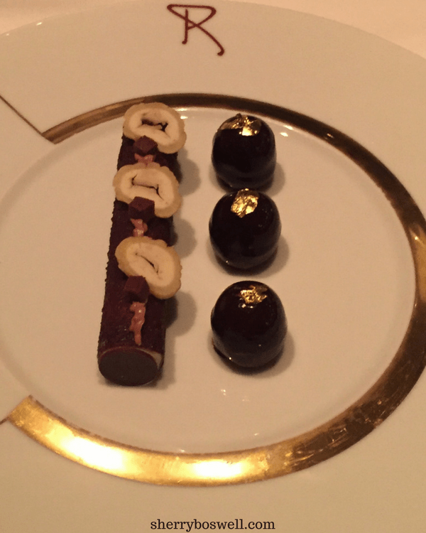 dine at Remy on your Disney cruise Remy dessert