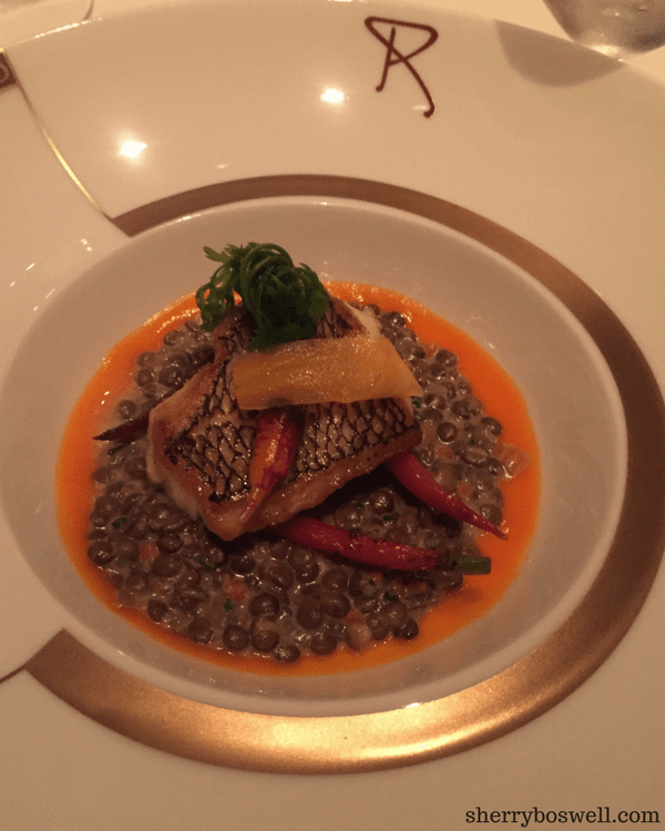 dine at Remy on your Disney cruise black bass