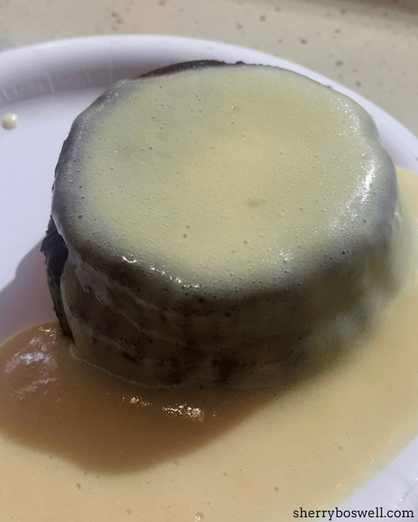Food and Wine dish pudding