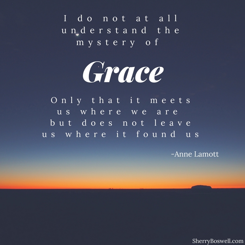 Choosing a word for the year in 2018-Grace Anne Lamott quote