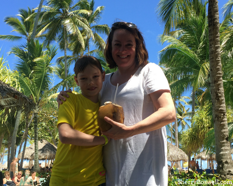 Things to Do with Kids in the Dominican Republic | pool time is more fun with fresh coconut water