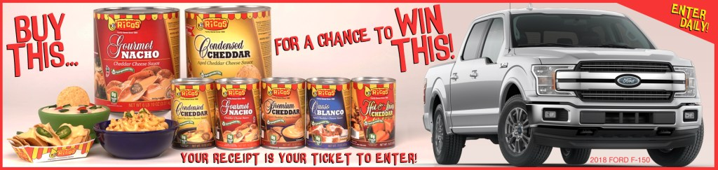 Game Day recipe | Ricos sweepstakes grand prize: a 2018 Ford F-150!