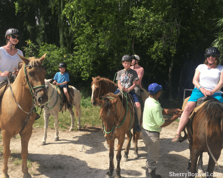 Things to Do with Kids in the Dominican Republic includes horseback riding on Bavaro Beach