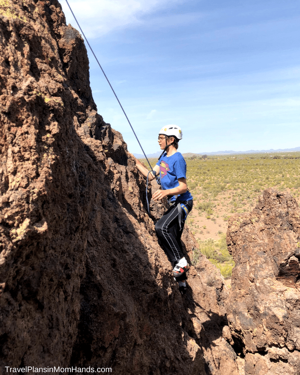 Arizona dude ranch fun: the only ranch in Tucson that also offers rock climbing on property is White Stallion Ranch. Truly unique.