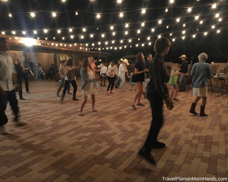 Arizona dude ranch fun: line dancing at White Stallion Ranch