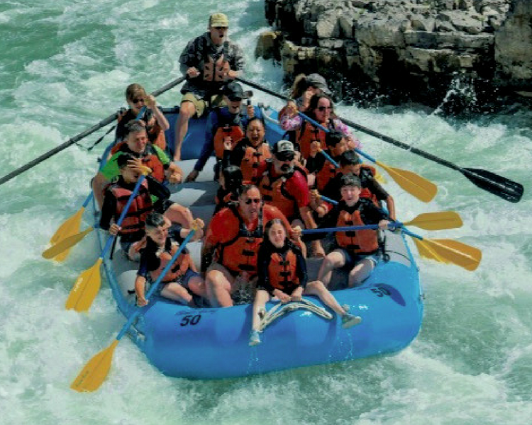 Jackson Hole whitewater rafting with Barker-Ewing-the rapids are where it gets REALLY fun!