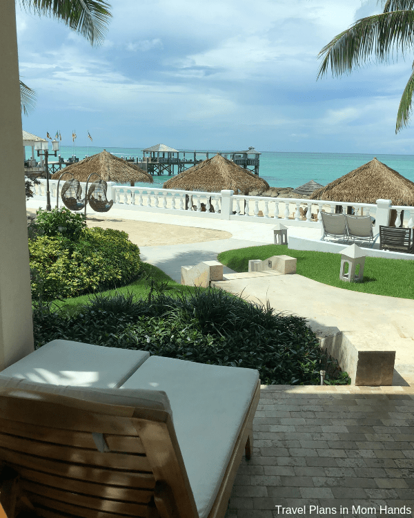 Soaking in the beachfront views at Sandals Royal Bahamian. All rooms seem to have some views of beach, pools, or tropical settings.