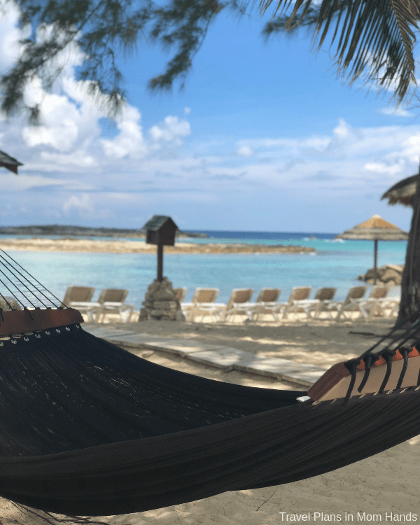 I could have stayed all day in this hammock on Sandals Island at Sandals Royal Bahamian.