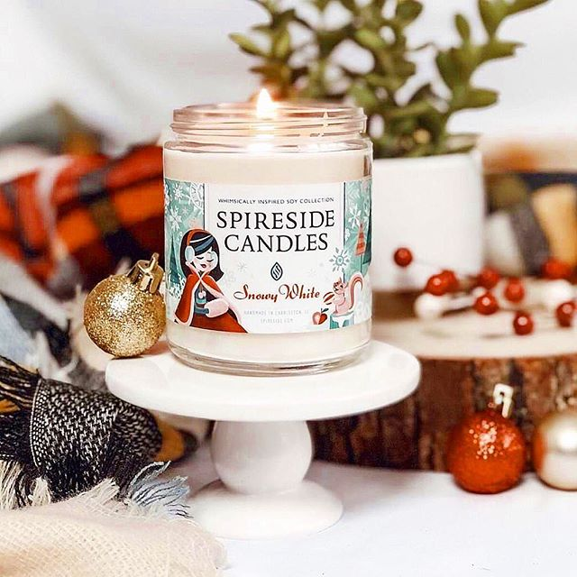 Scented candles make us feel like we're AT Disney, especially these from Spireside Candles-so they are a great gift from our holiday gift guide for Disney fans.