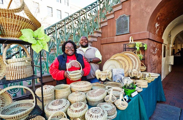 Sweetgrass baskets at Charleston City Market are a unique souvenir to remind you of fun things to do (and buy) in Charleston, SC.