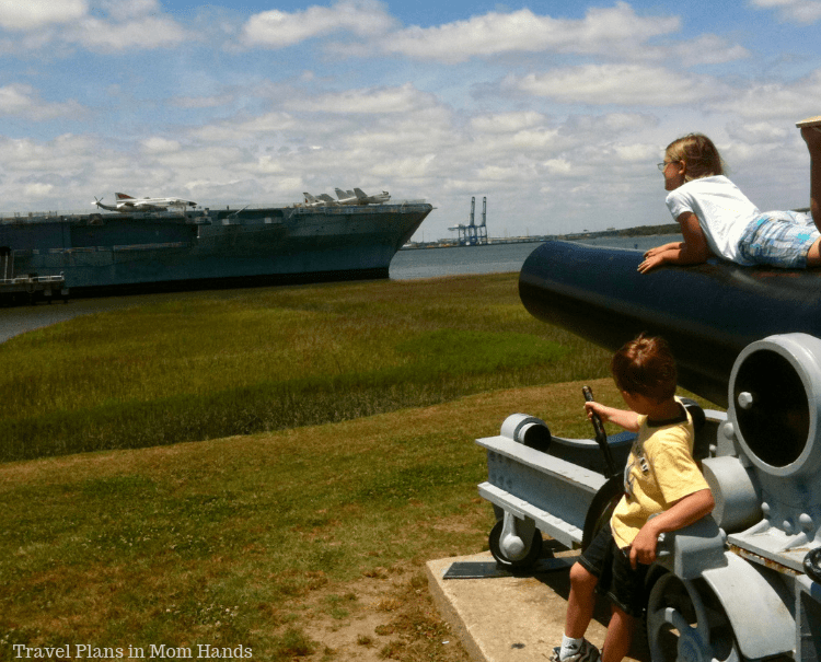Things to do in Charleston, SC for kids have to include the USS Yorktown, a former aircraft carrier.