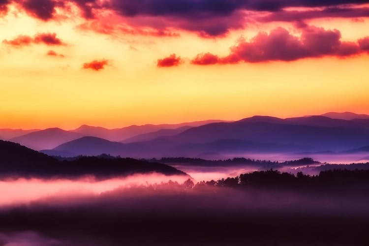 In honor of National Park Week, we're reflecting back on some of our favorites, including Great Smoky Mountains and this view of the mountains at sunset
