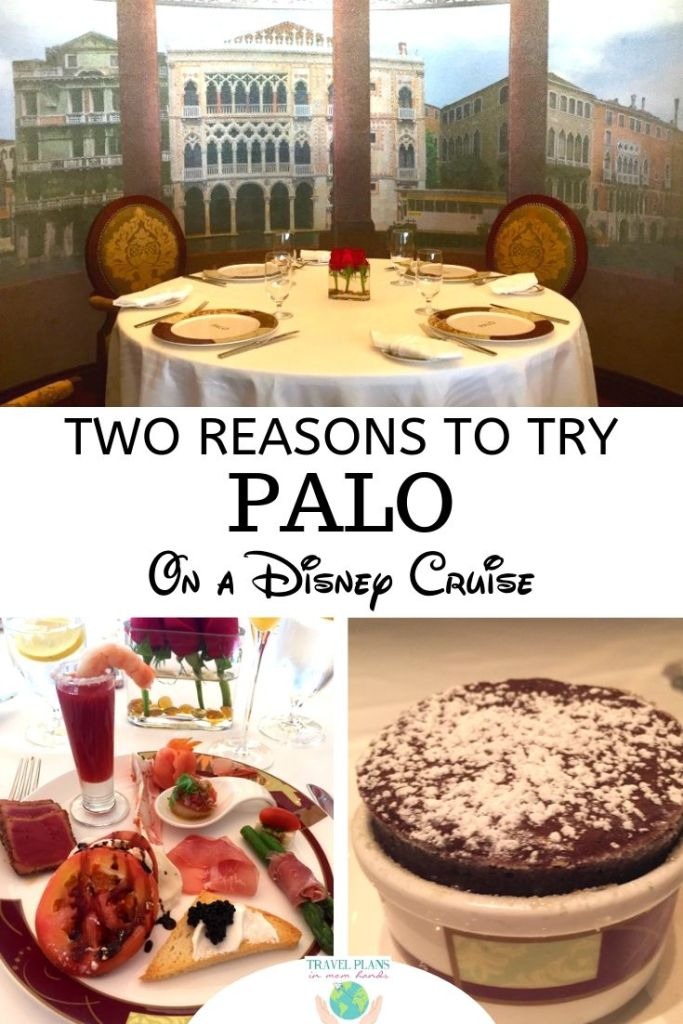 Disney Cruise dining is tops in the industry, and the pinnacle of Disney Cruise Line restaurants is Palo, found on all four Disney ships! Palo stands for: Perfection in Northern Italian cuisine Atmosphere is warm, opulent and serene Luscious desserts like tiramisu for me Ocean vistas that span as far as you can see. #DisneyCruise #Palo #DCL