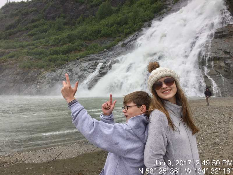 Alaska excursions don't always go as planned, so be flexible and goof around like my two did at the Tongass National Forest.