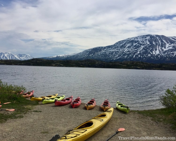 During our Skagway port stop, we trekked into Canada for kayaking before boarding the White Pass and Yukon Route Railway for the return.