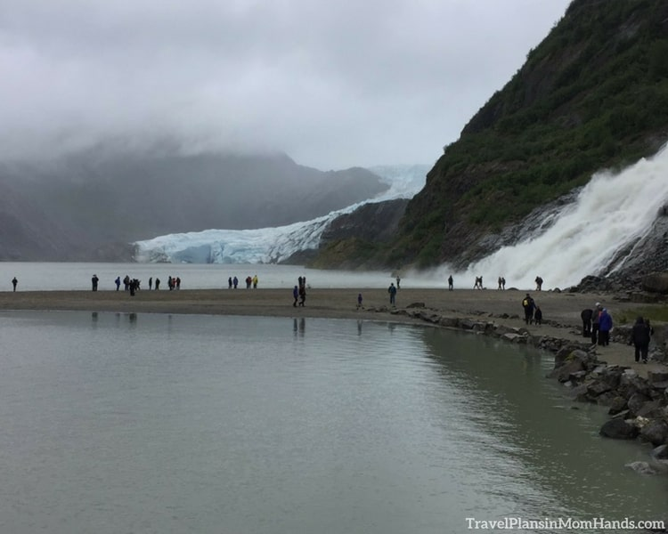 Our backup plan cruise excursion in Alaska after dogsledding fell through: going to tour the Mendenhall Glacier.