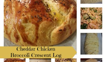 Cheddar Chicken Broccoli Crescent Log