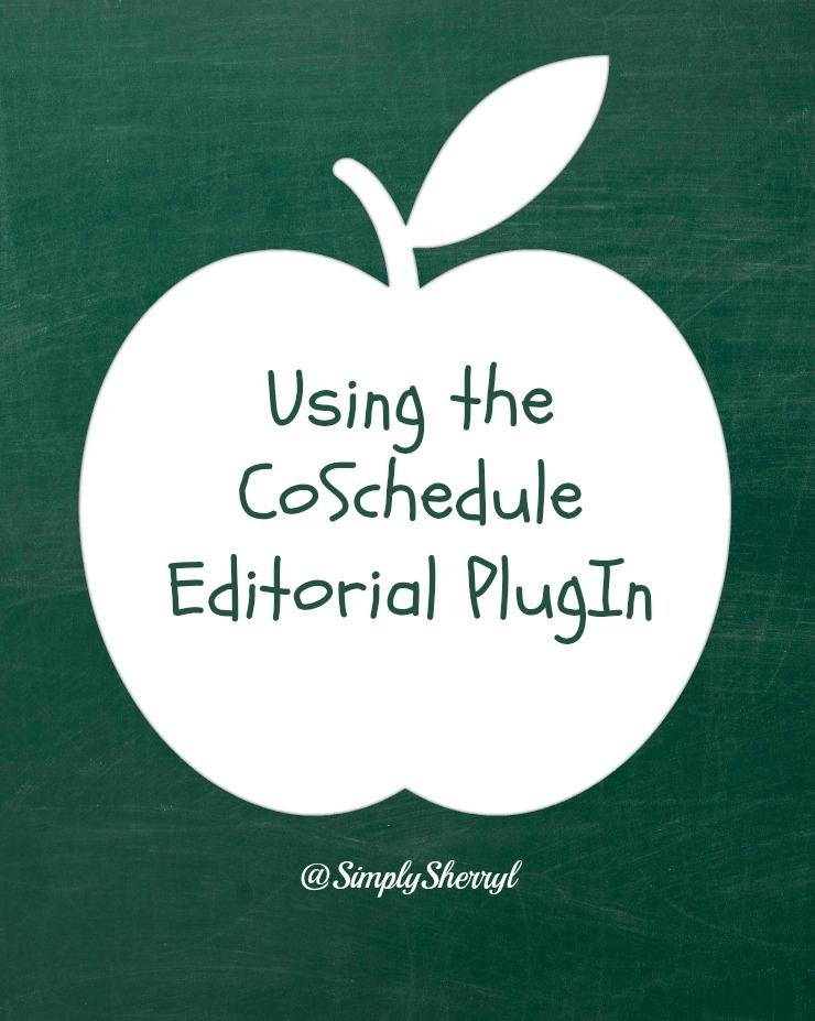 Using the coschedule editorial plugin