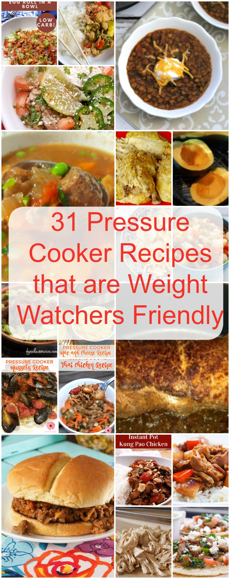 31 Pressure Cooker Recipes for Weight Watchers
