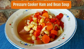 Pressure Cooker Ham and Bean Soup