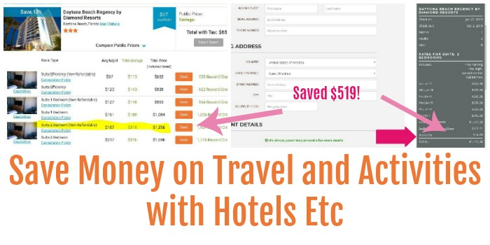 Save Money on Travel  with Hotels Etc