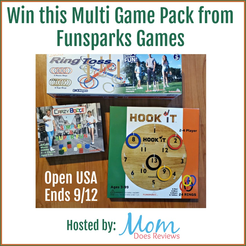Win this multi Game Set from Funsparks Games