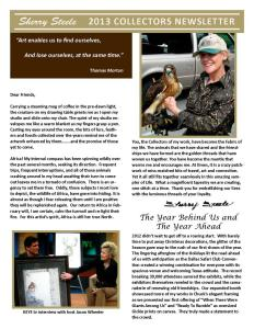 2013 Sherry Steele Newsletter