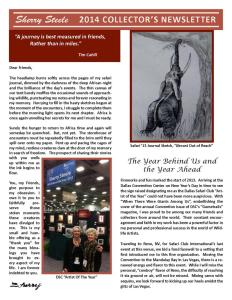 2014 Sherry Steele Newsletter