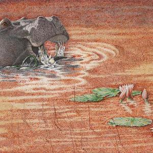 Sherry Steele Artwork - Sundowner - Hippo