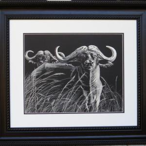 Sherry Steele Artwork - Got Your Back - Cape Buffalo