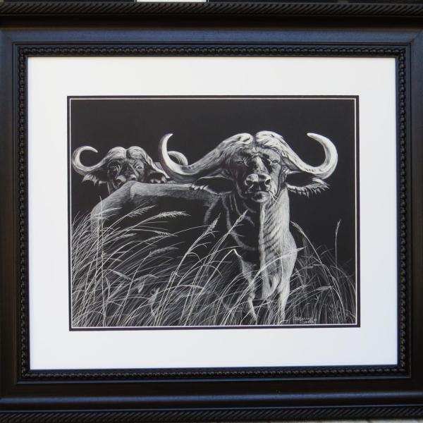 Sherry Steele Artwork - Got Your Back - Cape Buffalo