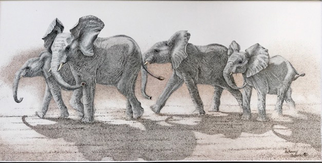 Elephants Mischief Brewing Sherry Steele Artwork African Animals
