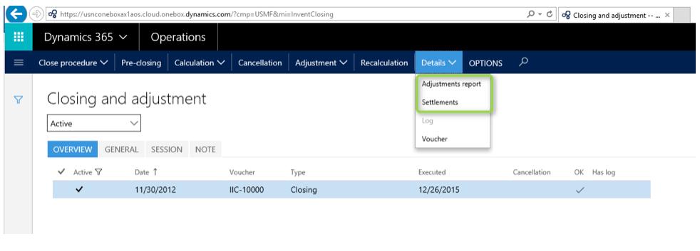 """""""Adjustments"""" report"""