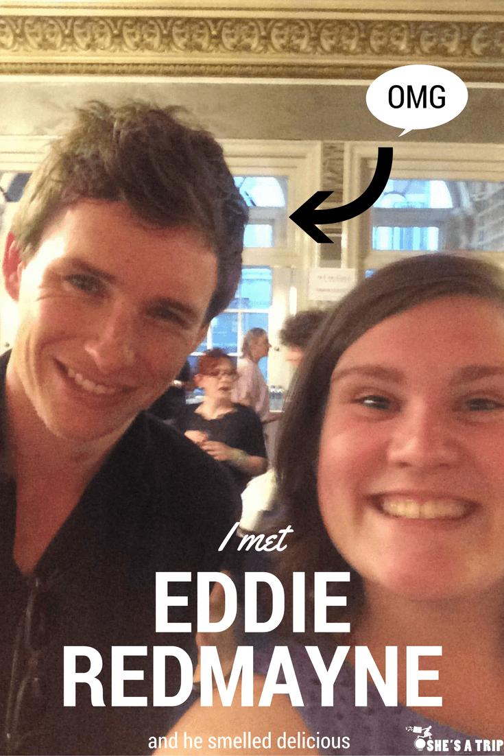 I met Eddie Redmayne in London London Celebrity Sightings