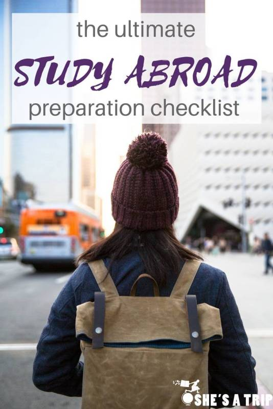 study abroad preparation checklist things to do before studying abroad