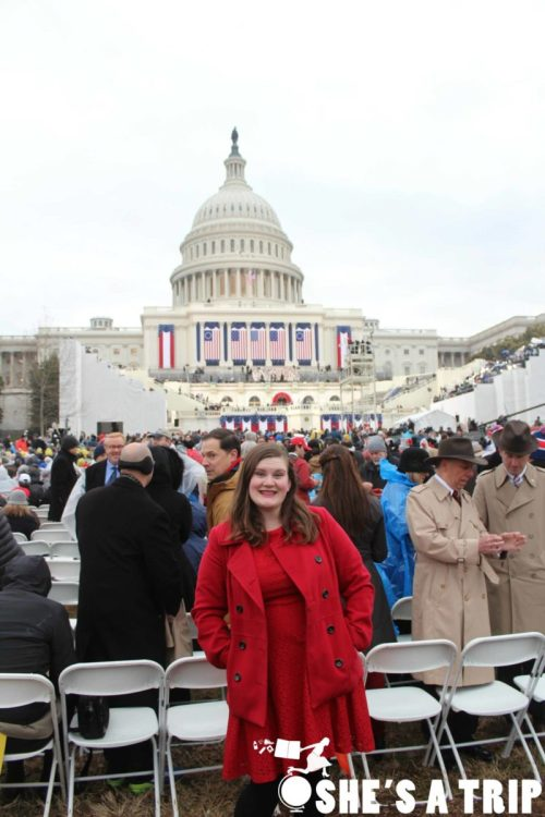 What was it like at Trump's inauguration Red Coat in DC