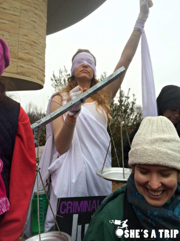 What was it like at the women's march on Washington Justice
