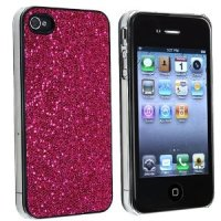 *HOT* PINK GLITTER BLING HARD CASE FOR iPhone® 4 4S 4GS for $0.07
