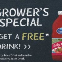 Buy One Get One FREE Ocean Spray Printable Coupon