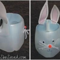 She's Crafty: Easter Bunny Milk Jug Craft