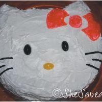 Hello Kitty Birthday Party Cake & Invitations