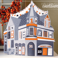 FREE Printable Halloween Countdown House