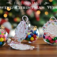 Blowing Christmas Wishes Printable