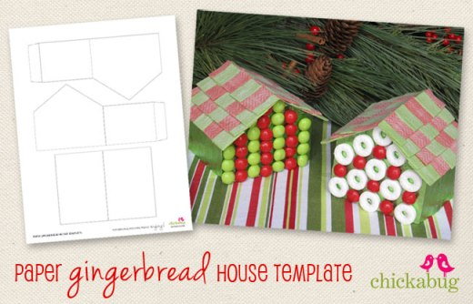 FREE Paper Gingerbread House Template