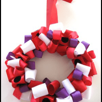Valentines Day Ribbon Wreath