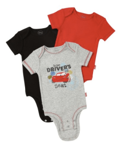 Disney Cars 3-Pack Infant Bodysuits